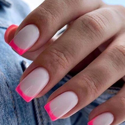 manicure by french pink styles